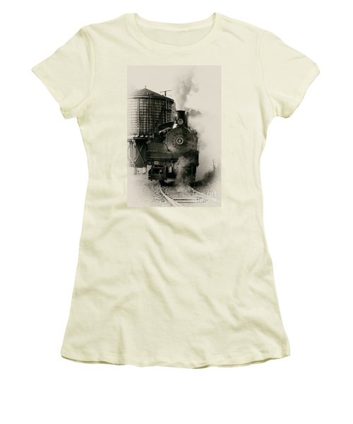 Steam Train Women's T-Shirt (Junior Cut) by Jerry Fornarotto