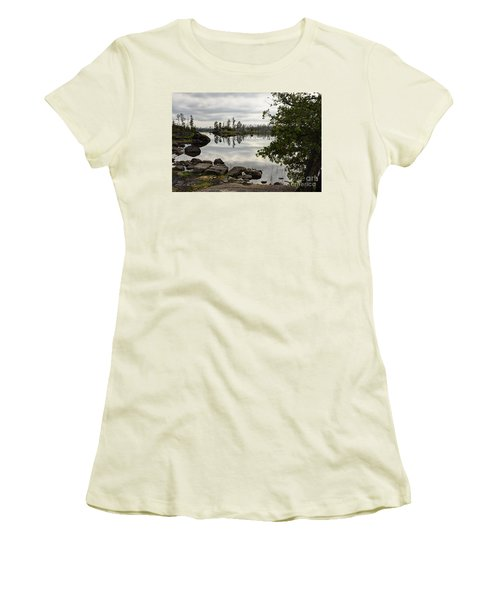 Women's T-Shirt (Junior Cut) featuring the photograph Steely Day by Larry Ricker