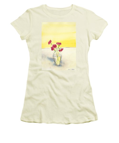 Still Life With Roses Women's T-Shirt (Athletic Fit)