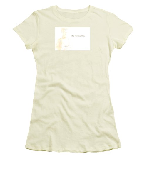 Stop Harming Others Women's T-Shirt (Athletic Fit)