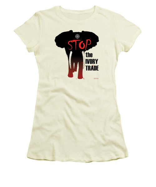 Stop The Ivory Trade Women's T-Shirt (Junior Cut) by Galen Hazelhofer