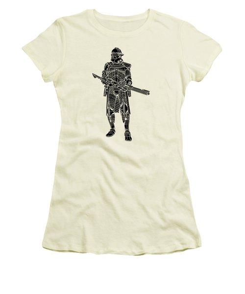 Stormtrooper Samurai - Star Wars Art - Black Women's T-Shirt (Athletic Fit)
