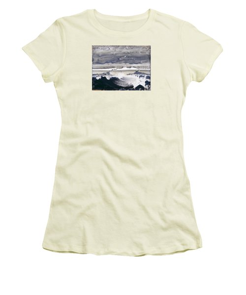 Stormy Sea Women's T-Shirt (Athletic Fit)