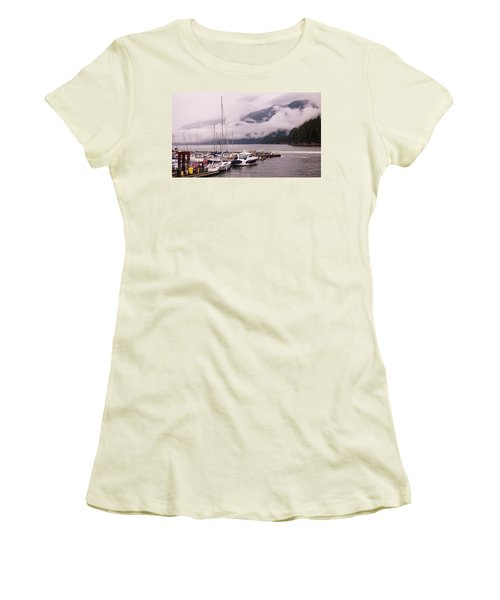 Stratus Clouds Over Horseshoe Bay Women's T-Shirt (Athletic Fit)