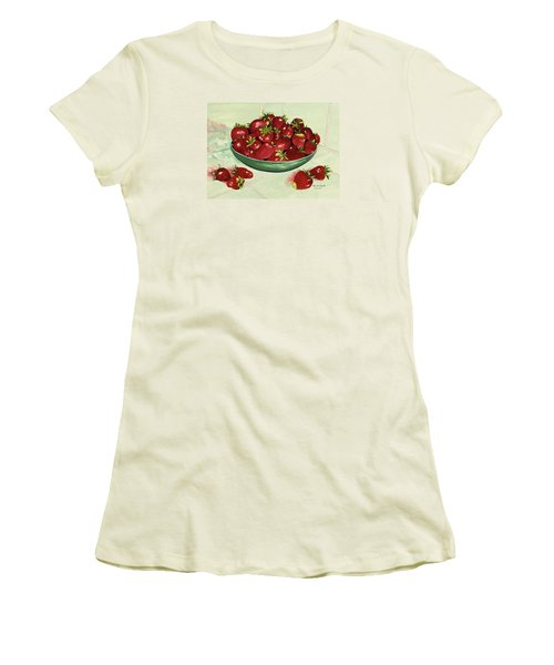 Strawberry Memories Women's T-Shirt (Athletic Fit)