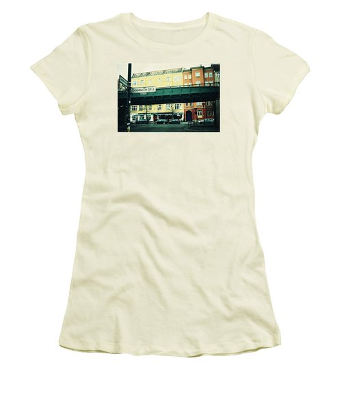 Street Cross With Elevated Railway Women's T-Shirt (Athletic Fit)
