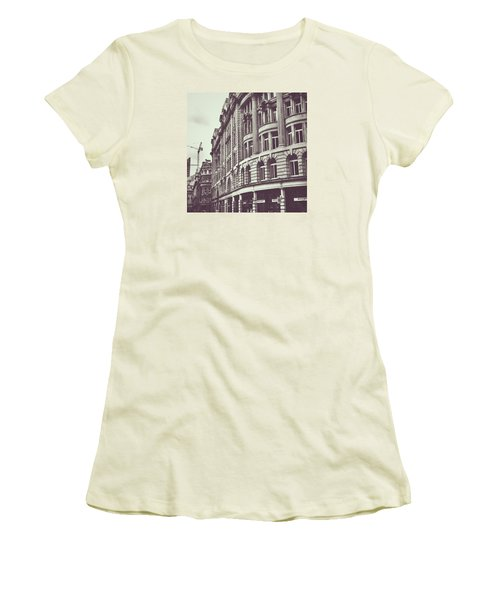 Streets Of London Women's T-Shirt (Junior Cut) by Trystan Oldfield