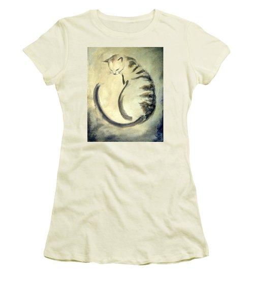 Stripey Cat 1  Women's T-Shirt (Junior Cut) by Dina Dargo