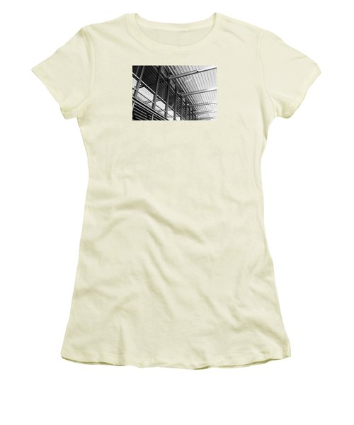 Women's T-Shirt (Junior Cut) featuring the photograph Structure Abstract 9 by Cheryl Del Toro