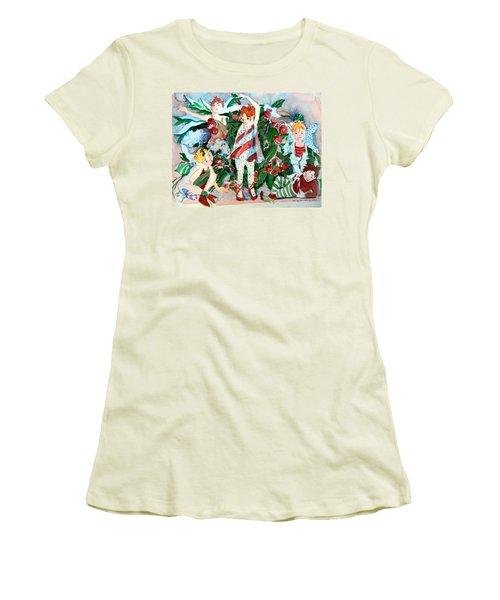 Sugar Plum Fairies Women's T-Shirt (Junior Cut) by Mindy Newman