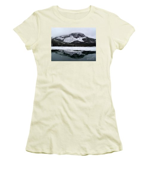 Women's T-Shirt (Junior Cut) featuring the photograph Sugarloaf Hill Reflections In Winter by Barbara Griffin