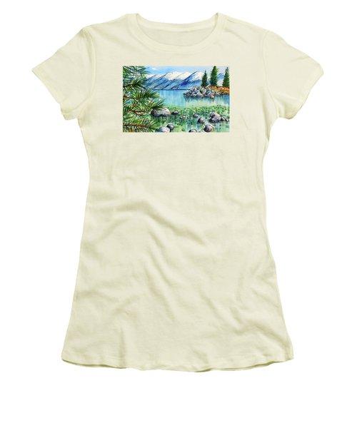 Summer At Lake Tahoe Women's T-Shirt (Junior Cut) by Terry Banderas