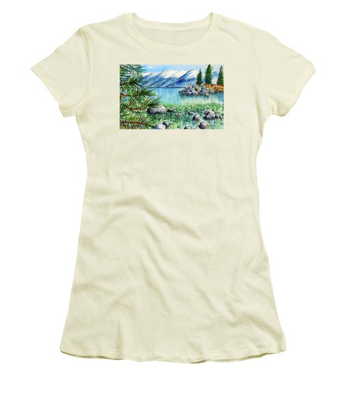 Summer At Lake Tahoe Women's T-Shirt (Athletic Fit)