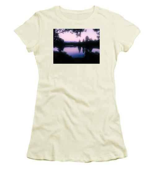 Women's T-Shirt (Junior Cut) featuring the photograph Summer Evening In New Hampshire by Robin Regan