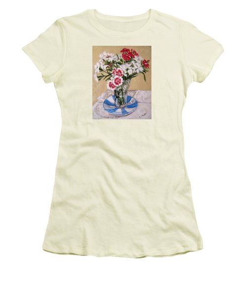 Summer Flowers Women's T-Shirt (Junior Cut) by Laura Aceto