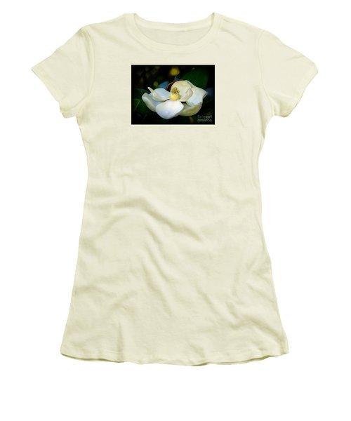Summer Magnolia Women's T-Shirt (Junior Cut) by Lisa L Silva