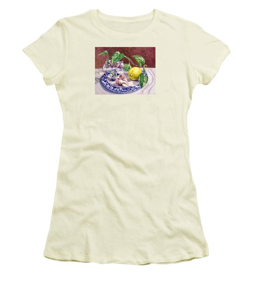 Summer Plate Women's T-Shirt (Junior Cut) by Laura Aceto