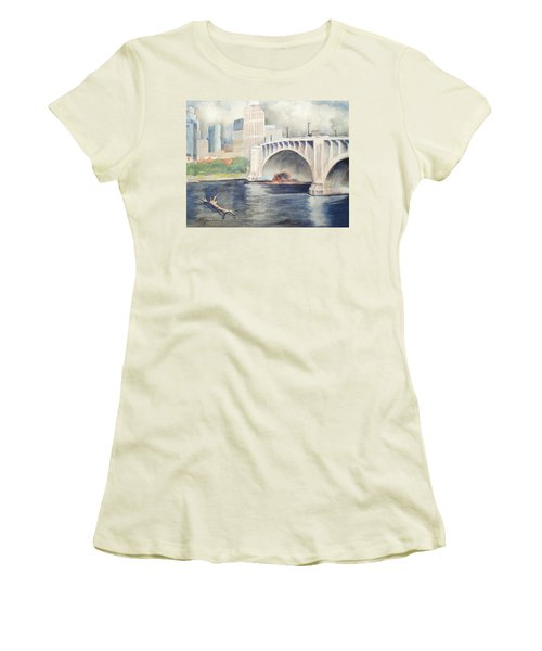 Summer Rain Women's T-Shirt (Junior Cut) by Marilyn Jacobson