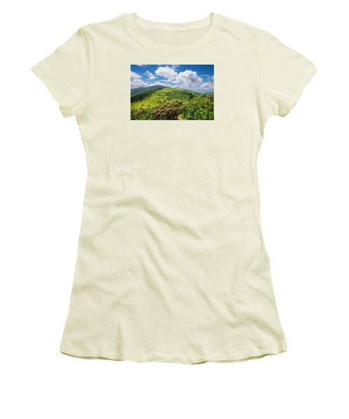 Women's T-Shirt (Junior Cut) featuring the photograph Summer Roan Mountain Bloom by Serge Skiba