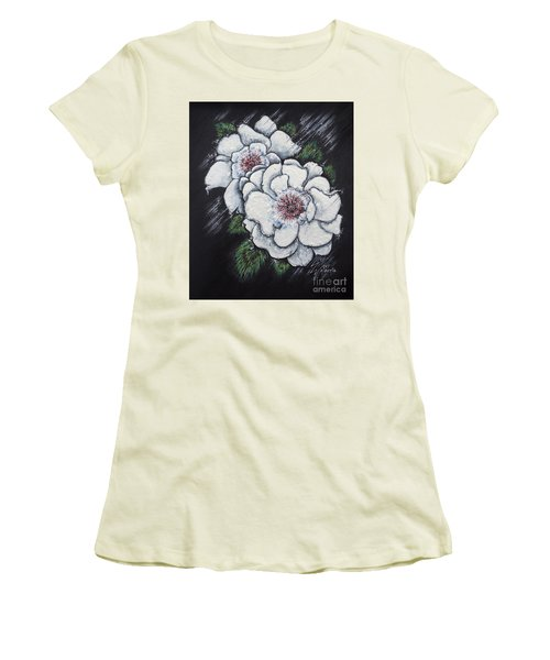 Summer Roses Women's T-Shirt (Junior Cut) by Scott and Dixie Wiley