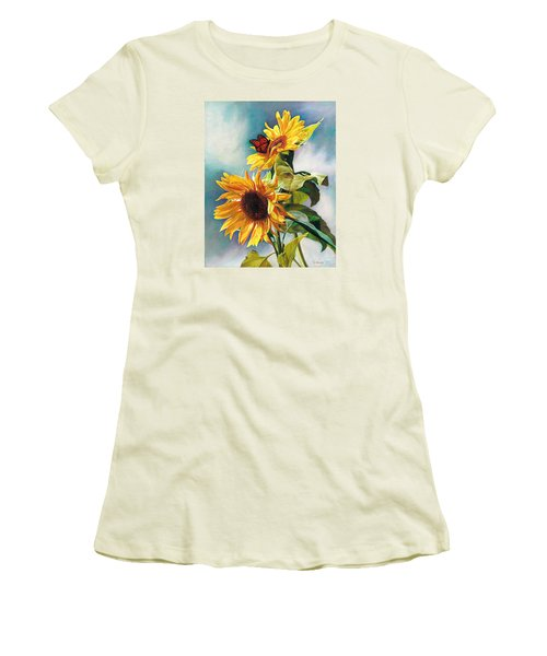 Women's T-Shirt (Junior Cut) featuring the painting Summer by Svitozar Nenyuk