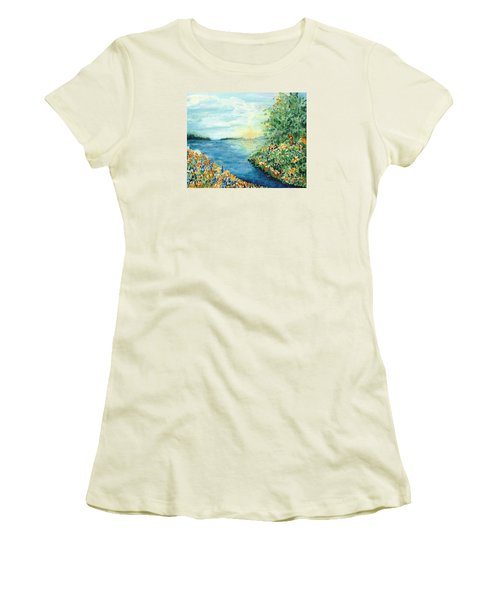 Sun And Moon Women's T-Shirt (Junior Cut) by Holly Carmichael