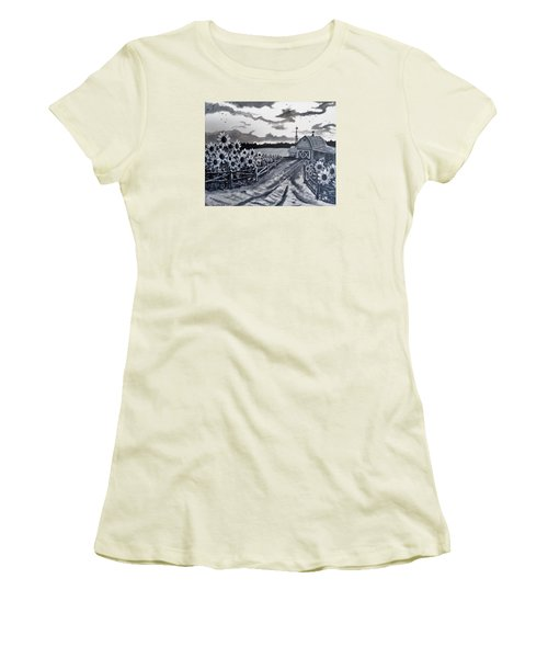 Sunflower Farm Women's T-Shirt (Athletic Fit)