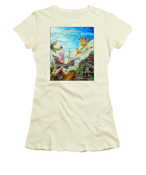 Sunken Ships Women's T-Shirt (Athletic Fit)