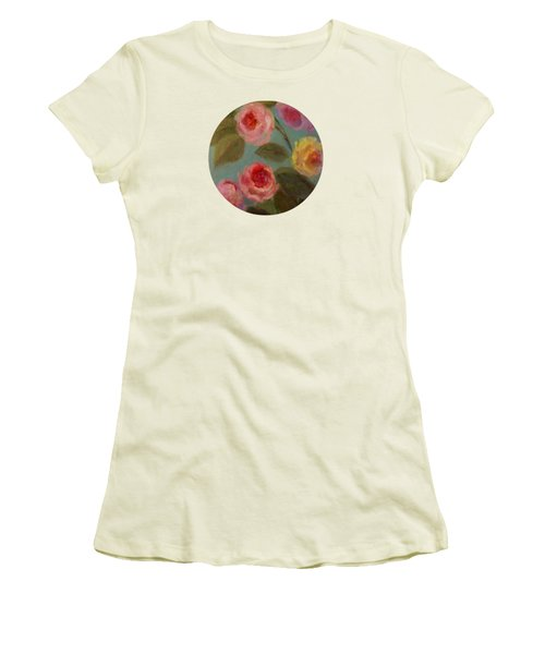 Sunlit Roses Women's T-Shirt (Junior Cut) by Mary Wolf