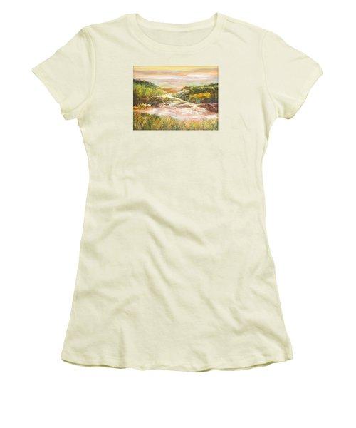 Sunlit Stream Women's T-Shirt (Junior Cut) by Glory Wood