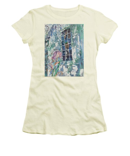 Women's T-Shirt (Junior Cut) featuring the painting Sunny Day At Brandywine by Mary Haley-Rocks