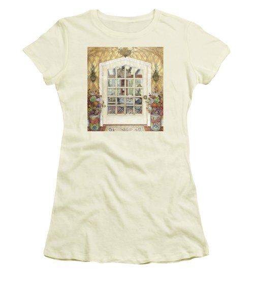 Sunroom Entrance Women's T-Shirt (Junior Cut) by Bonnie Siracusa