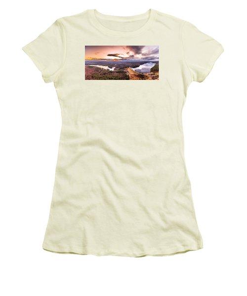 Sunset At Saville Dam - Barkhamsted Reservoir Connecticut Women's T-Shirt (Athletic Fit)