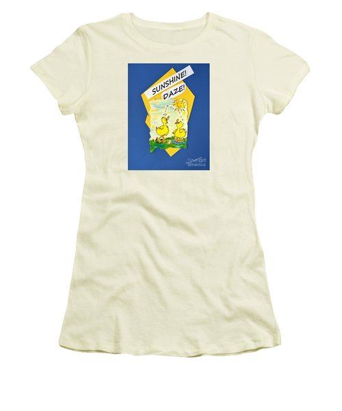 Sunshine Daze Women's T-Shirt (Athletic Fit)
