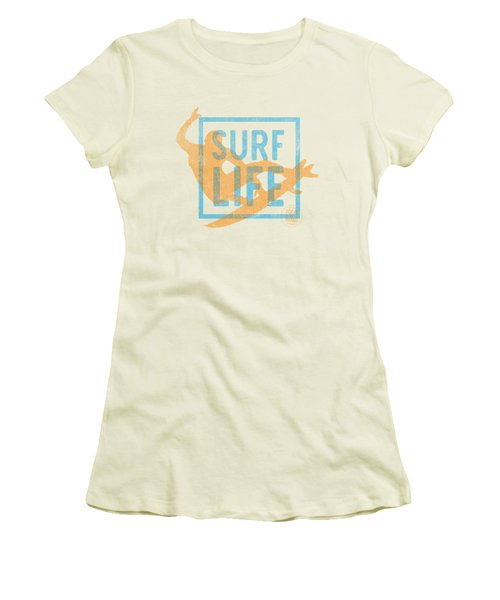 Surf Life 1 Women's T-Shirt (Junior Cut) by SoCal Brand