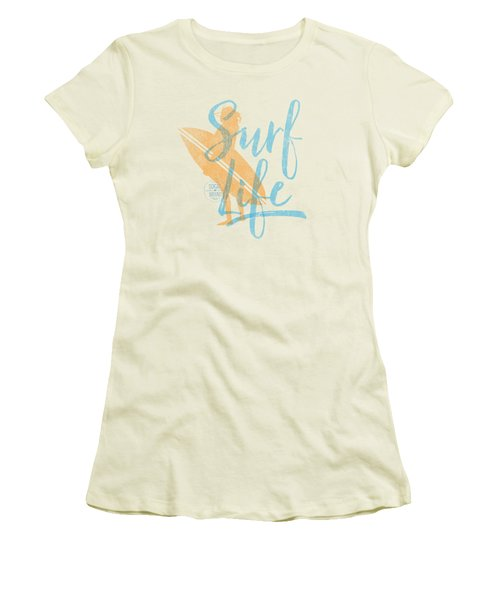 Surf Life 2 Women's T-Shirt (Junior Cut) by SoCal Brand