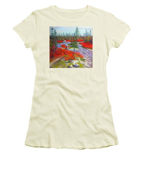 Susie Lake Barrens Women's T-Shirt (Athletic Fit)