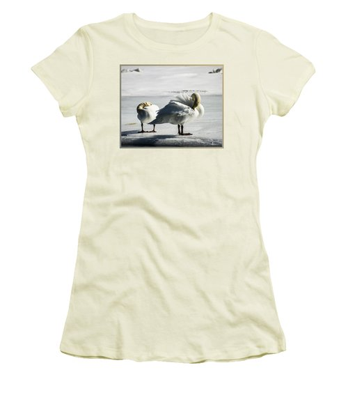 Swans On Ice Women's T-Shirt (Athletic Fit)