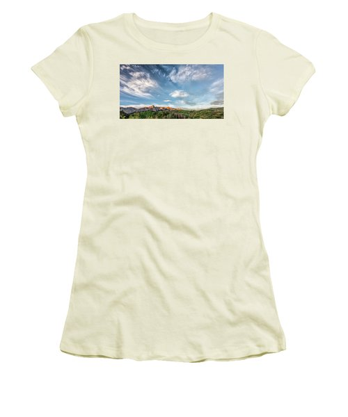 Women's T-Shirt (Junior Cut) featuring the photograph Sweeping Clouds by Jon Glaser