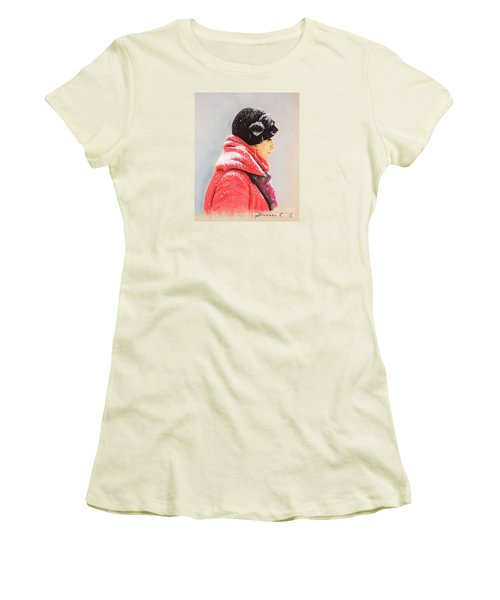Sweet Caroline Women's T-Shirt (Junior Cut) by Katharina Filus