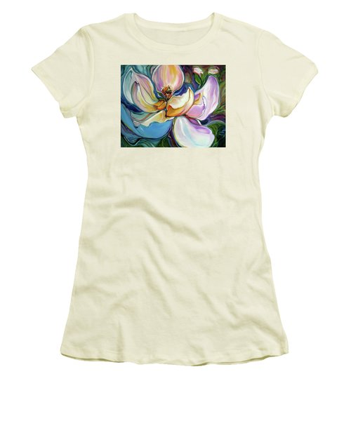 Sweet Magnoli Floral Abstract Women's T-Shirt (Athletic Fit)