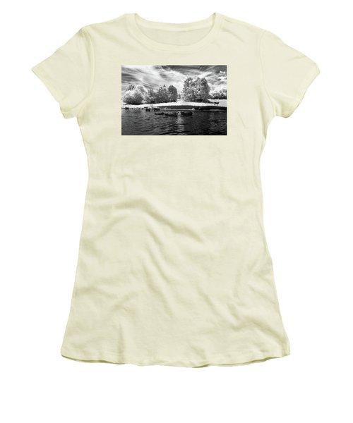 Swimming With Cows II Women's T-Shirt (Junior Cut) by Paul Seymour