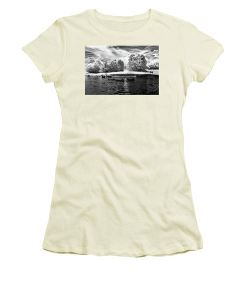 Swimming With Cows II Women's T-Shirt (Athletic Fit)