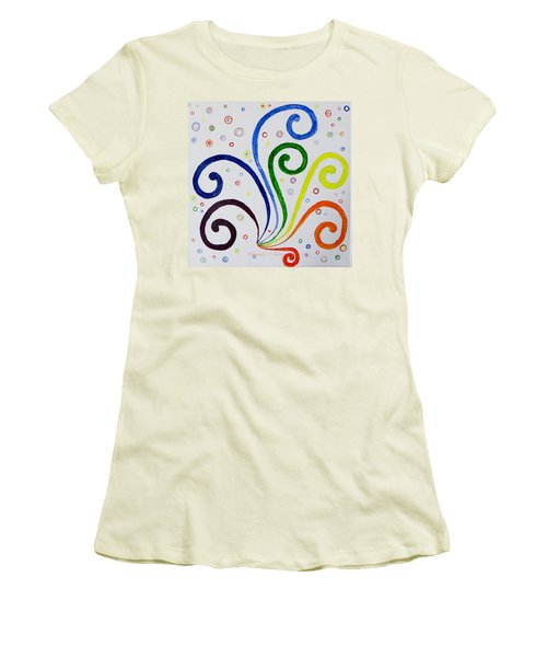 Swirls Women's T-Shirt (Athletic Fit)