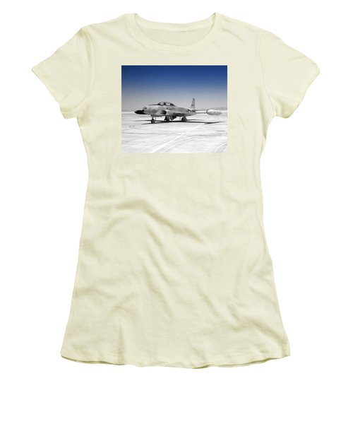 Women's T-Shirt (Junior Cut) featuring the photograph T33 A Jet by Greg Moores