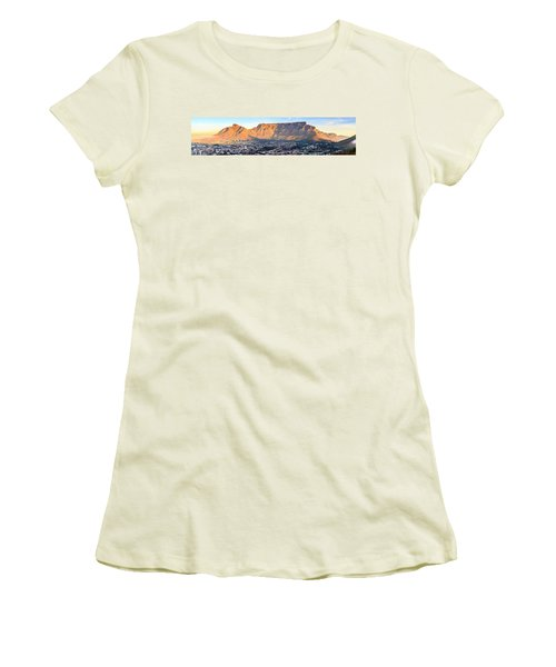 Women's T-Shirt (Junior Cut) featuring the photograph Table Mountain by Alexey Stiop