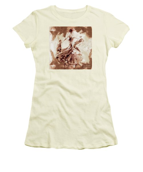 Women's T-Shirt (Junior Cut) featuring the painting Tango Dance 9910j by Gull G