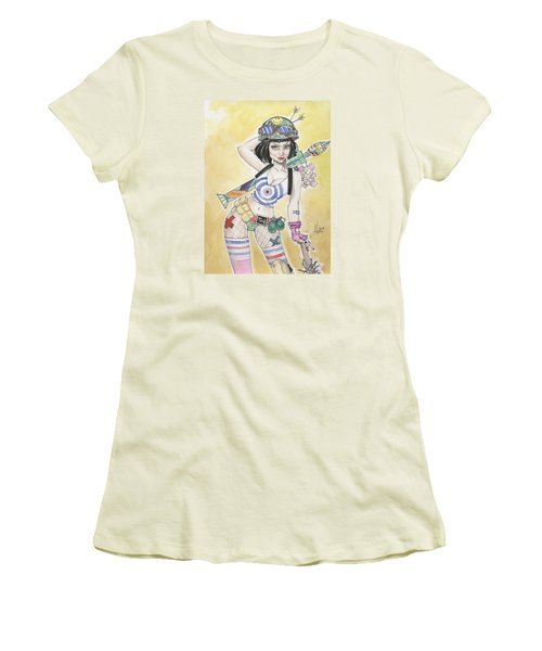 Tank Girl Women's T-Shirt (Junior Cut) by Jimmy Adams