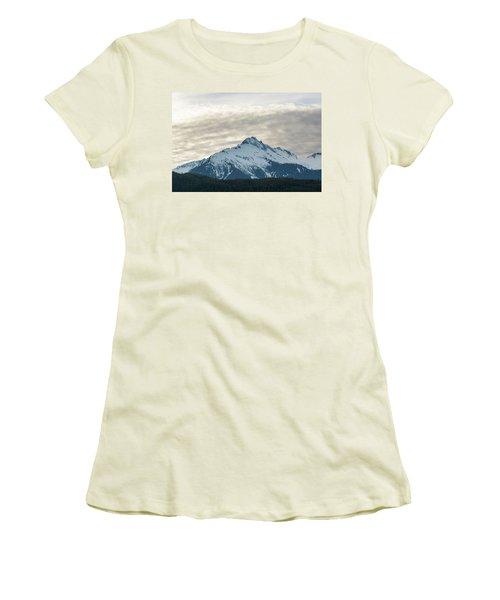 Tantalus Mountain Range Closeup Women's T-Shirt (Athletic Fit)