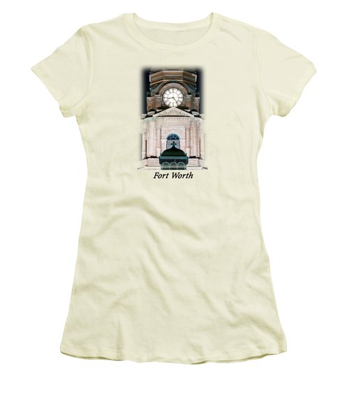 Tarrant County Clock T-shirt Women's T-Shirt (Athletic Fit)